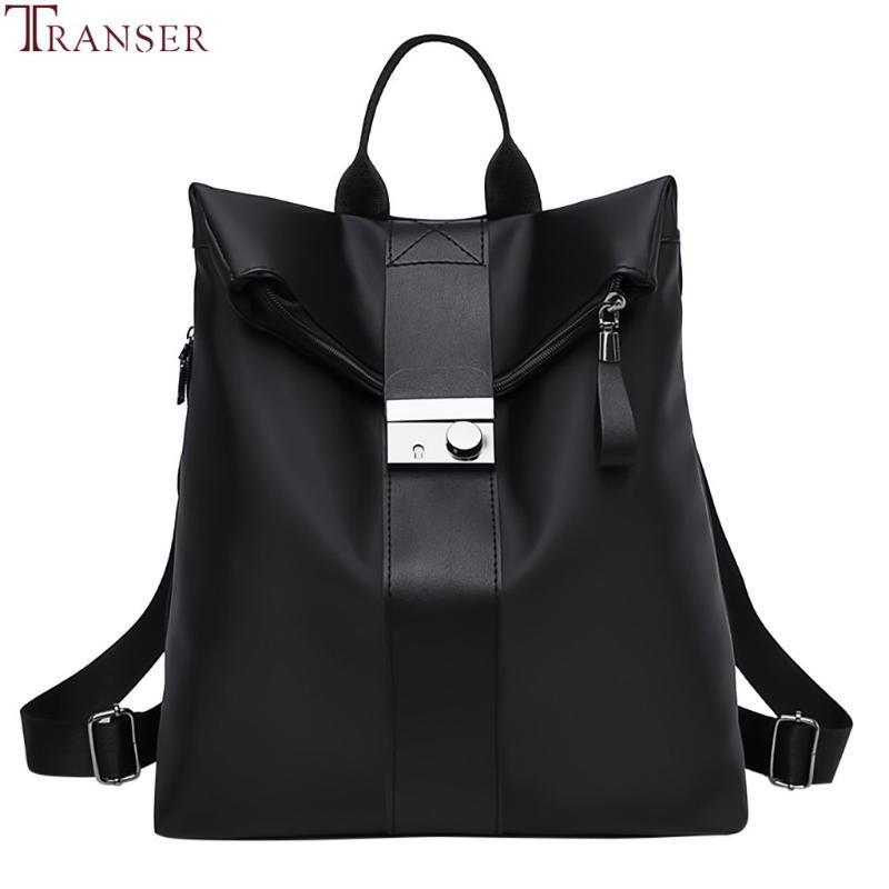 Las mochilas de cuero Transer mujeres de la PU de la vendimia 2019 Mochila Bolsas estudiante de la manera coreana para el adolescente muchachas ocasionales de viaje backbag #
