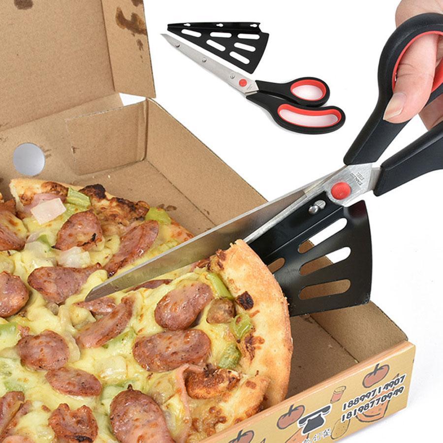 Multi cozinha Função Scissors Stainless Steel Baking Tools Pizza Faca cortador Slicer Pá Cozinha Shallot vegetal cisalhamento DH1468 T03