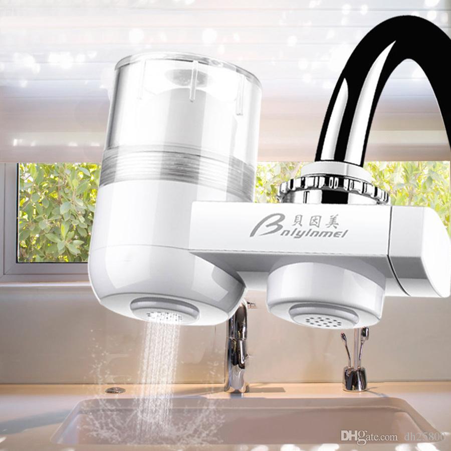 Mini Household Water Filter Purifier Kitchen Faucet Water Purifier Purifying Plant Filtration Wash Fruit Vegetable Sterilizer