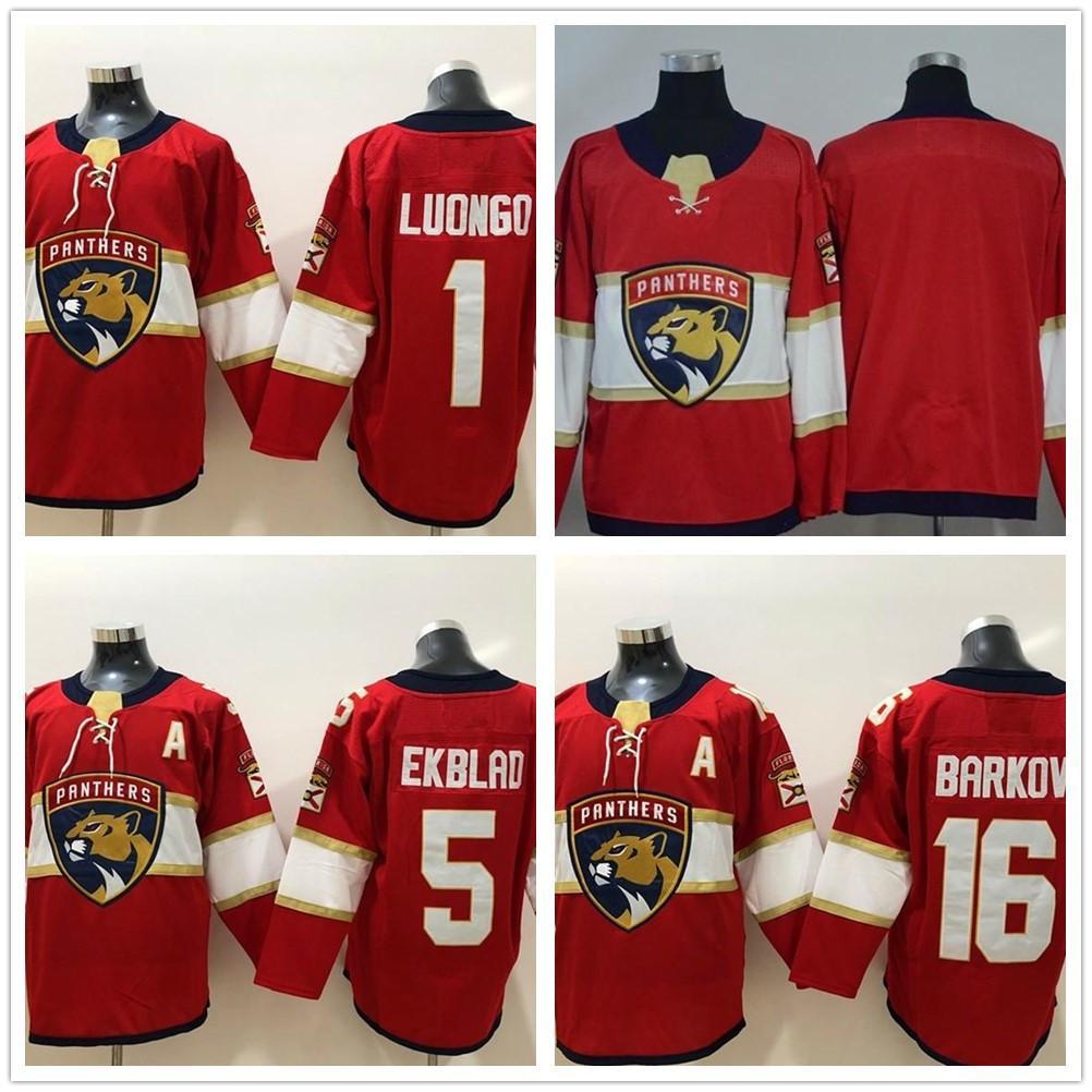 남자 # 16 Aleksander Barkov 5 Aaron ekblad 1 Roberto Luongo Jersey Florida Panthers Hockey Jerseys My