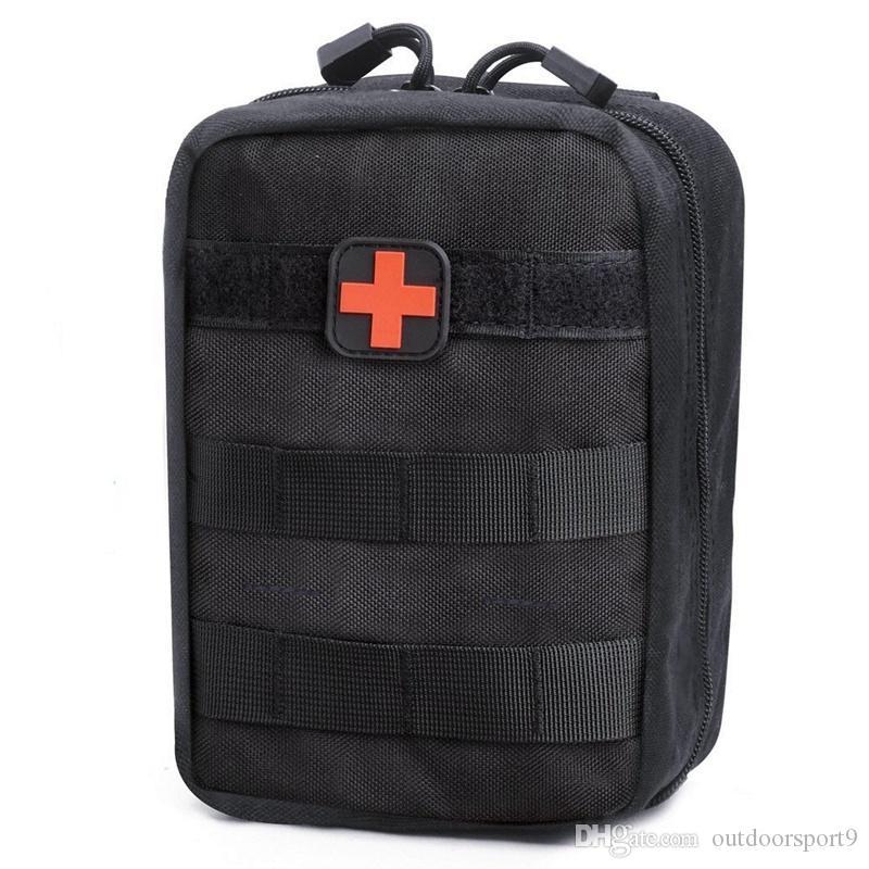 Azarxis Bolsa de Primeros Auxilios T/áctica Molle Rip-Away 1000D Nylon Equipo de Supervivencia de Emergencia EMT IFAK para Caza Camping Senderismo