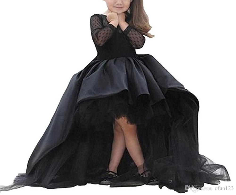 Nouvelles robes de demoiselle avec manches longues Robe de communion pour le mariage de petites filles.