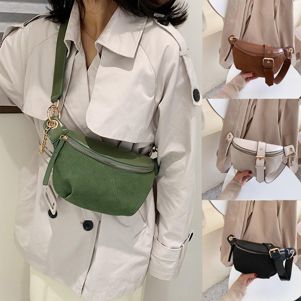 bandolera 2019 NUEVO bolso de cuero multiusos Estudiante femenino versátil bolsillo bolsillos de moda salvaje de la mujer Dropship Y11.12