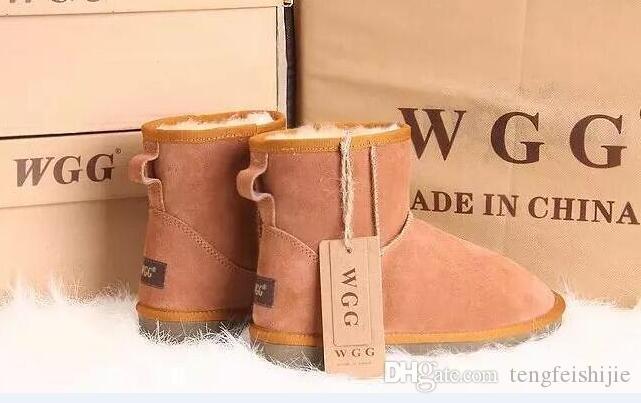 Classic Tall botas para mujer de las botas de cuero de arranque de la nieve del invierno de descuento de Navidad 2019 Australia caliente de alta calidad WGG de las mujeres US tamaño 5 --- 1