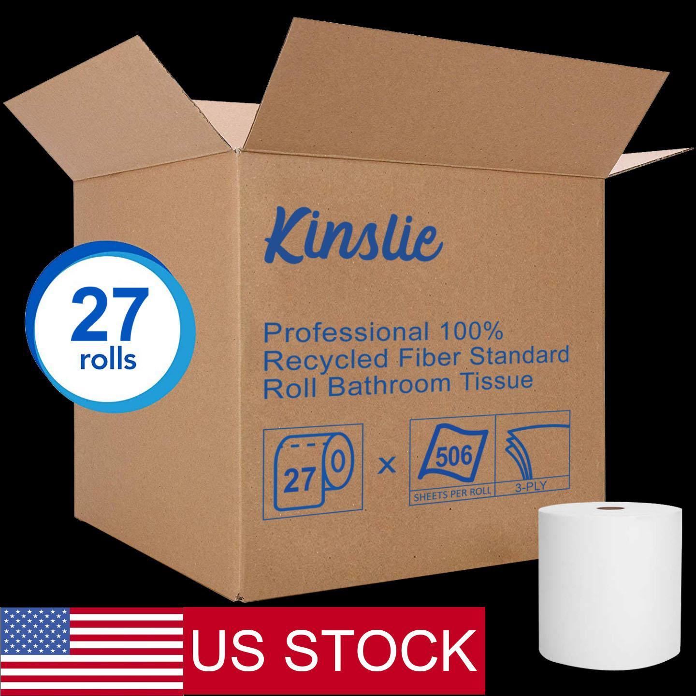 27 rollos de papel higiénico del baño de tejido de 3 capas 506 hojas por rollo de toallas de papel a granel de EE.UU. envío libre rápido