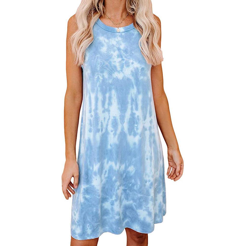 Nueva llegada del vestido de las mujeres ocasionales de la manera vestido de verano color clasificado último diseño al por mayor de ropa de verano