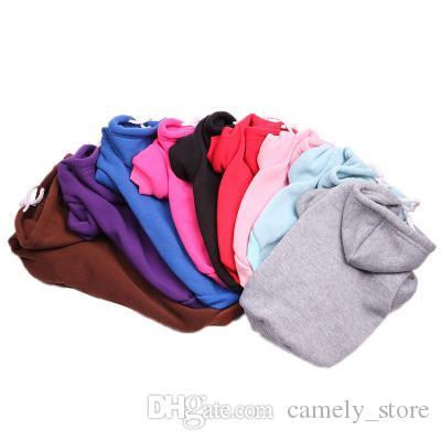 10 cores camisola cão outono e inverno casaco de cachorro multicolor animal de estimação roupas pet roupas com capuz cão vestuário quente vestuário