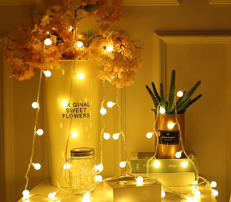 1,5 M 3M 4,5 M 6,5 M 10M Fairy Garland LED Ball String Lights Water Against for Christmas Tree Wedding Home Decoration Battery Powered