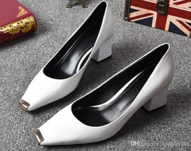 2019 Chaussures pour femmes au printemps et à l'automne avec nouveau style Talon haut Talon grossier Tête carrée @ 13