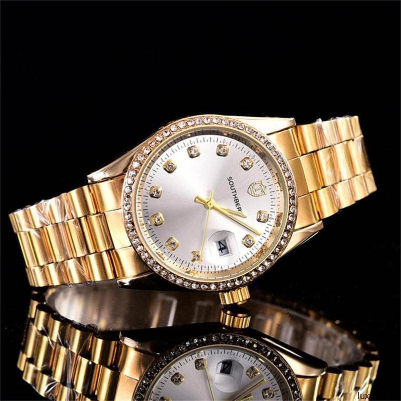 Diamanti luxwa023 Relogio Feminino qualità dell'acciaio cinturino Tops famosi eleganti Designers donne libere di trasporto 36 millimetri di lusso quarzo
