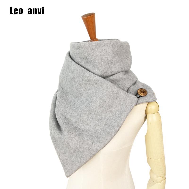 Leo Anvi marchio di moda sciarpe progettista donne uomini Scaldacollo morbida maschera solido con tasti ad anello unisex mujer bufand T200407 femme
