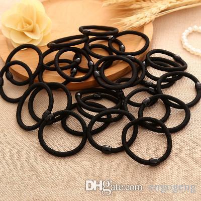 sevgili alıcılar saç için ödeme bağlantı Hiçbir logo, normal saç halat siyah renk bağları (Anita liao)