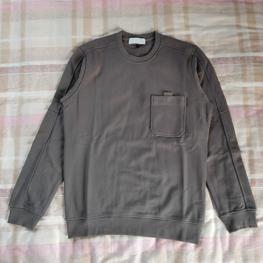 19FW европейские толстовки карманный Crewneck толстовка карманный круглый вырез свитер удобные повседневные мужские дизайнерские толстовки HFWPWY283