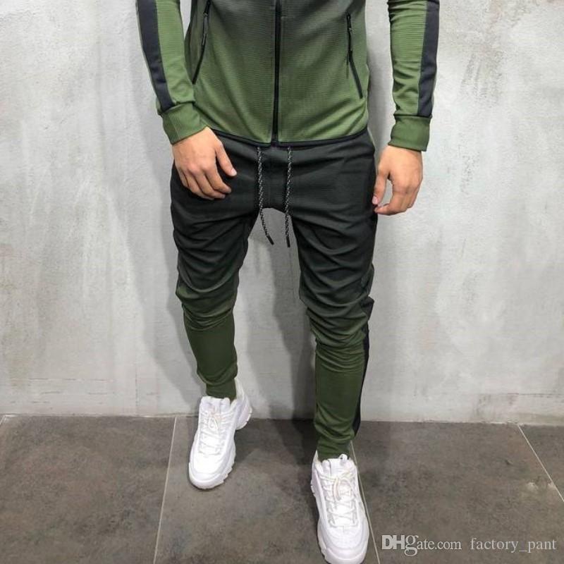 Top Quality Men's Sweatpants Side Stripe Hip Hop Track Pants Street Wear Skinny Jogger Sweatpants Elastic Waist Male Casual Trousers 3