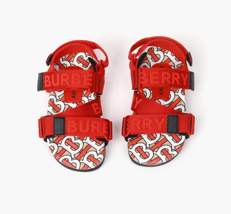 Дизайнерские детские сандалии 2020 Новая детская обувь высокое качество модные буквы Детская обувь размер 26-35 бесплатная доставка 0315139