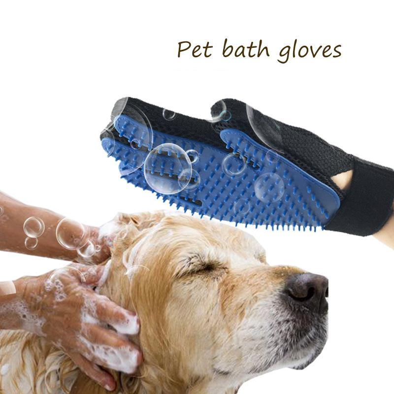 Pet Dog Cleaning Gloves Cat Dogs Bathing Massage Gloves Beauty Shower Gloves Cat Hair Grooming Dog Accessories Pet Supplies D19011506