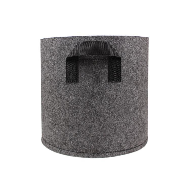 20 30 50 Gallon Garden Grow Bag with Handle Felt Grey Fabric Plant Planting Growing Box Vegetable Potato Round Pot Container With Handles