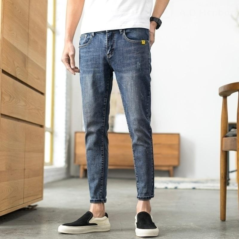 Jeans hommes neuvième 2020 pantalons serrés de la mode des jeans pantalons serrés beau casual stretch tout match Slim Leggings