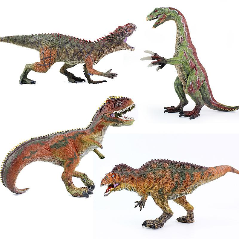 Cross Border Jurassic Solid Dinosaur Model Toy Large Size T-Rex sickle long Shark Tooth Dragon Plastic And Rubber Model Toys