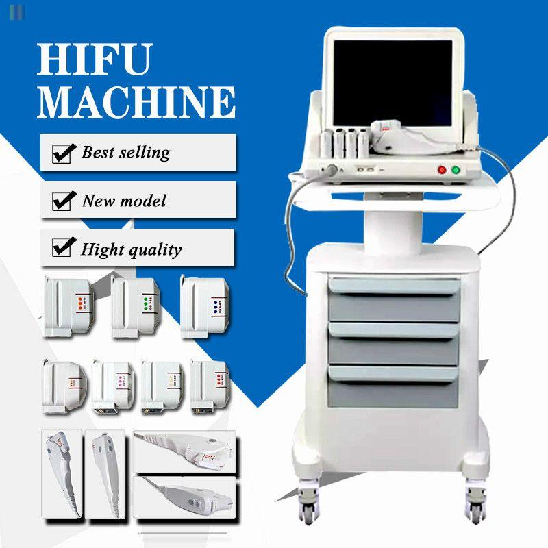 Machine Hifu Anti-âge portable visage et du corps HIFU peut enlever les rides avec 3 cartouches ou 5 Cartouches pour CE Visage Corps certifiés