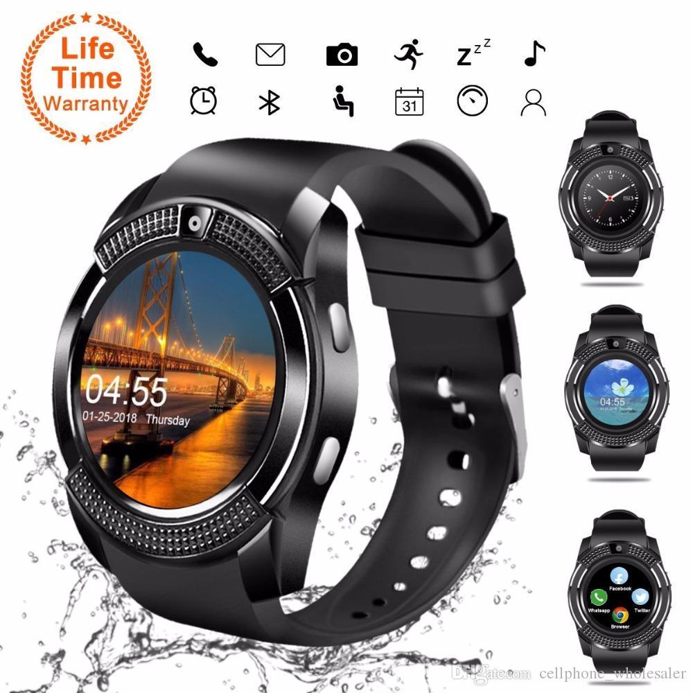 V8 GPS Smart Watch Bluetooth Smart Touchscreen Armbanduhr Mit Kamera SIM Kartensteckplatz Wasserdichte Smart Uhr für IOS Android iPhone Uhr
