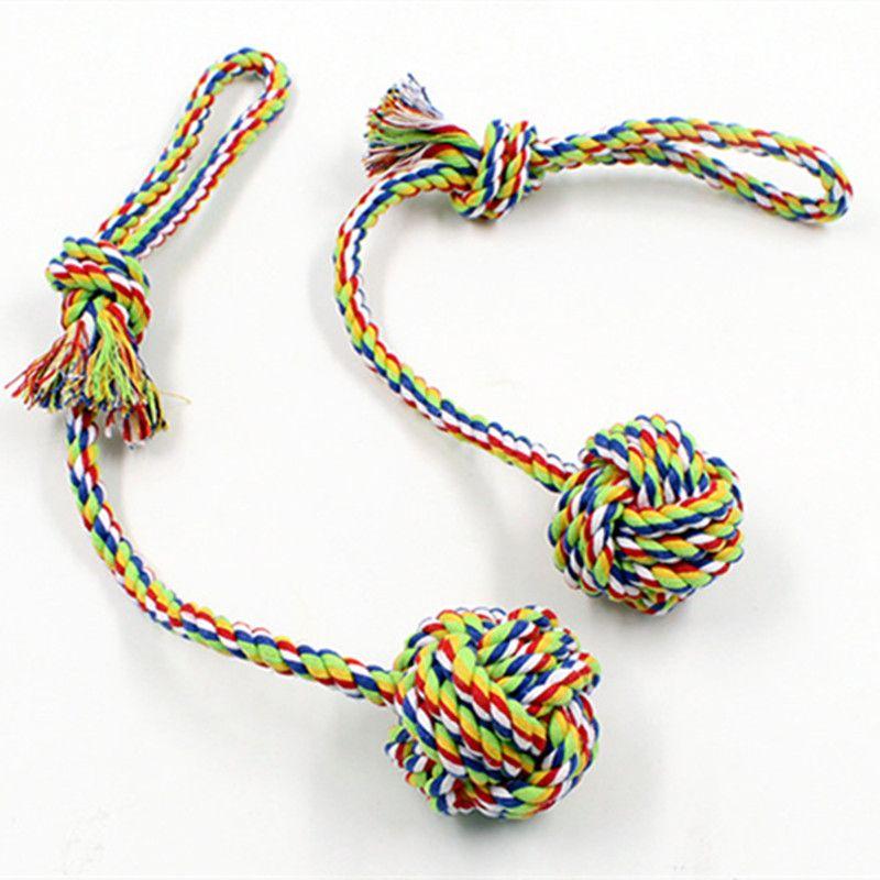 Juguetes para perros Productos para mascotas Cuerda Nudo Bola Para limpieza de dientes de perro Juguete dibujado a mano Juguete interactivo para mascotas Juguetes para perros pequeños y medianos