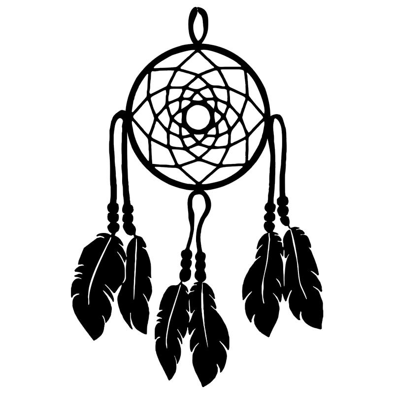 Dream Catcher No Beads Vinyl Car Window Cutout Sticker Motorcycle SUVs Bumper Car Window Laptop Car Stylings