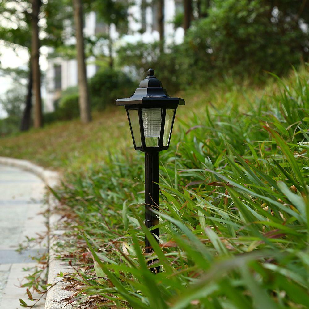 Solar angetriebene LED im Freien sechseckige sechseckige Bahn Licht IP65 wasserdichte Außenbeleuchtung für Garten Landschaft Yard Patio