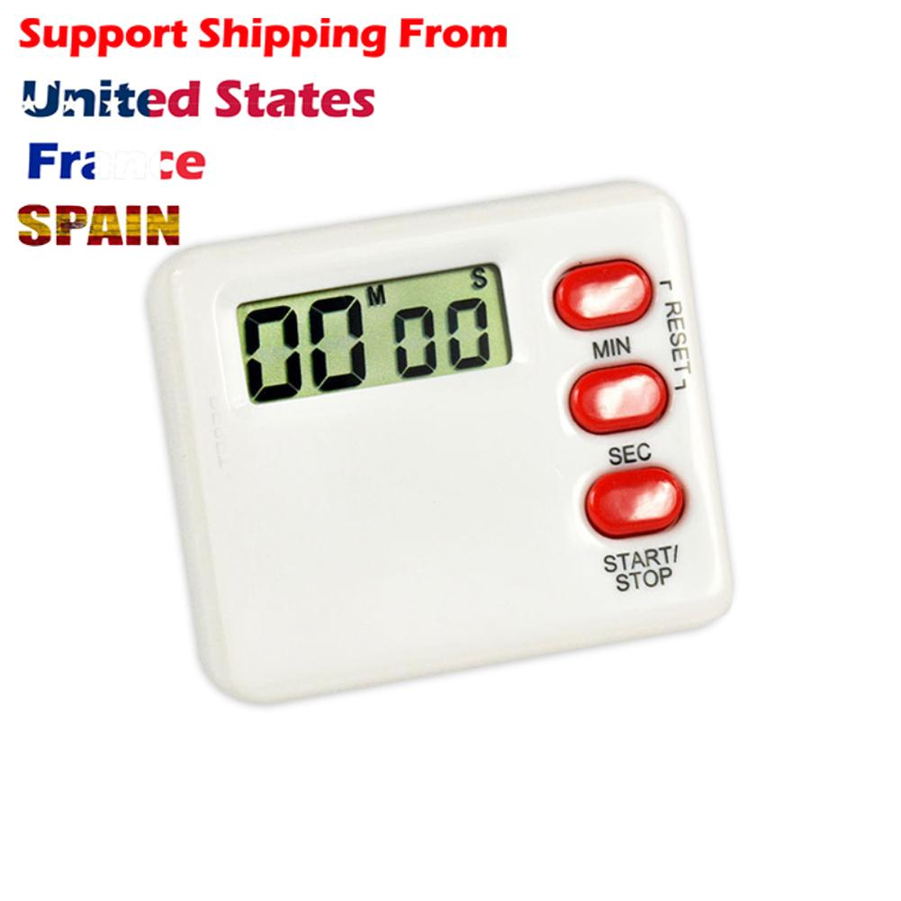 Praça Mini LCD portátil Contagem regressiva Tabela Digital Magnet Relógio DIY Cozinha Forno Timer Digital Relógio de mesa de cozinha