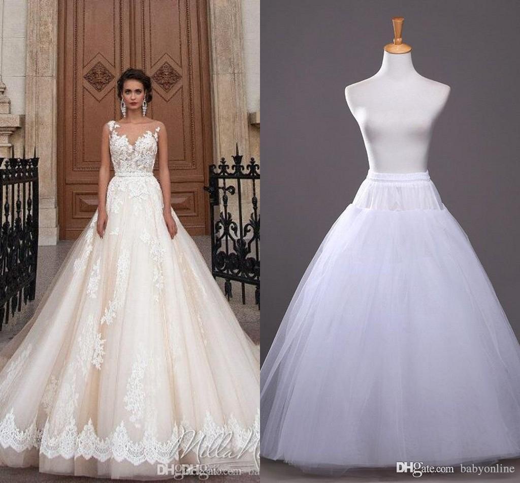 2019 في سوق الأسهم A-خط زلة التنورة الداخلية رخيصة الزفاف اكسسوارات الزفاف لفساتين الزفاف العرسان تحتية CPA212