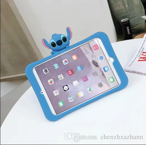 3 D CARTOON GOMMA SILICON M BACK CASE per APPLE IPAD 2 3 4 /& iPad Mini 1 2 3