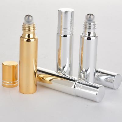 10ml Roll On Verre Bouteille Argent Noir Or Parfums Huile Essentielle Bouteilles parfum avec rouleau boule en métal personnalisable Logo EEA907-5