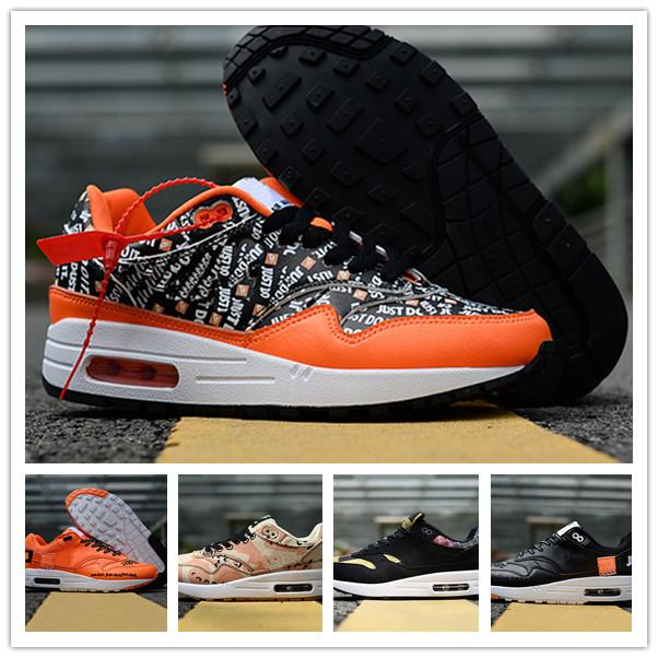 DLX ATMOS 1 87 Parra Sean wotherspoon Air Blue Mens casual Shoes Animal Pack 1s 87s Leopard Classic Athletic Women Sneakers Trainers