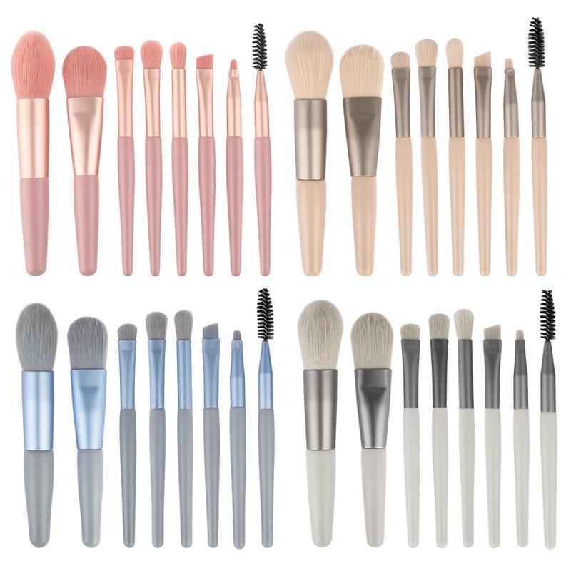 2020 Professional Makeup Brushes 8pcs Mini Eye Makeup Brush Set Foundation Eyeshadow Powder Mascara Blush Brush Travel Make Up Brushes Tools