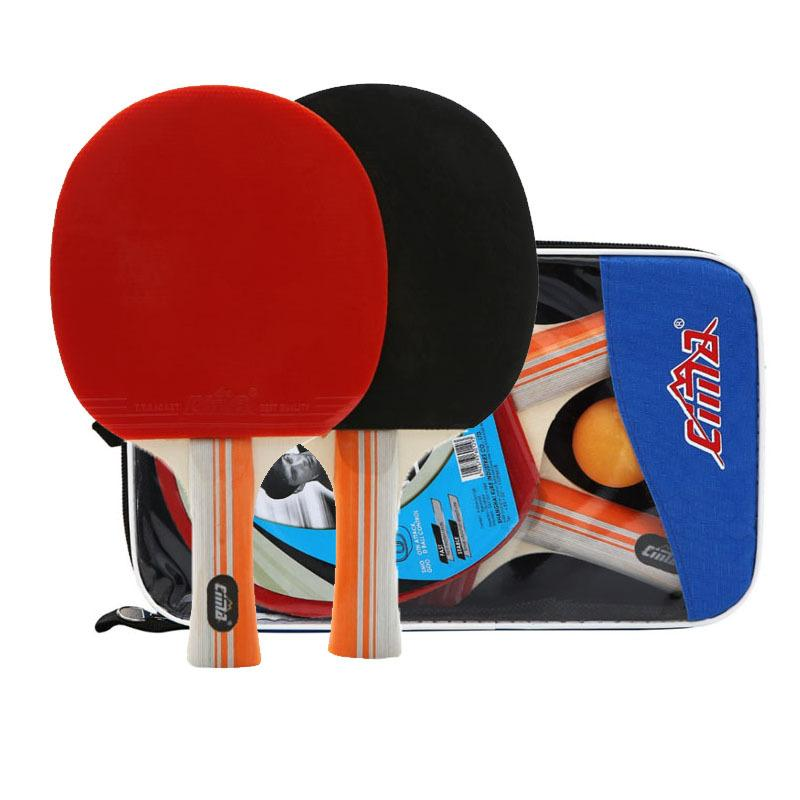 8 Etoiles Table Tennis Racket Sac et balles Set Professional Paddle en caoutchouc Sport PingPong Lame tennis de table Bat T200410