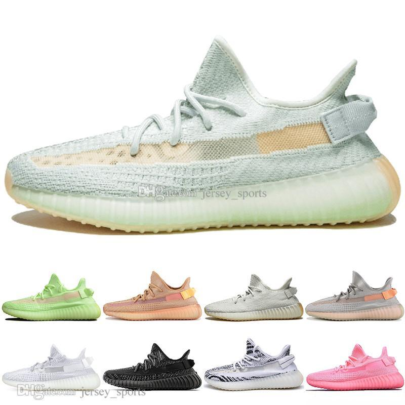 Drop Shipping Kanye West Argilla V2 Statico riflettente Glow In The Dark Mens scarpe da corsa Designer Hyperspace True Form Donne Sport Sneakers 1