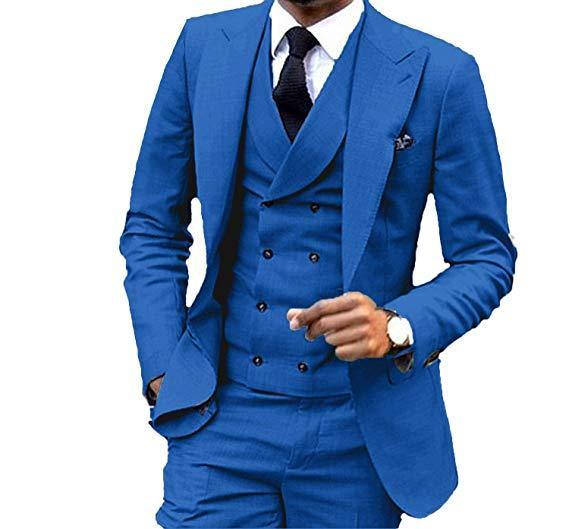Fashion Wedding Mens Suits 3Pieces Custom Made Tuxedos For Prom Italian Stylish slim fit Mens Suits(Jacket+Pants+Vest)