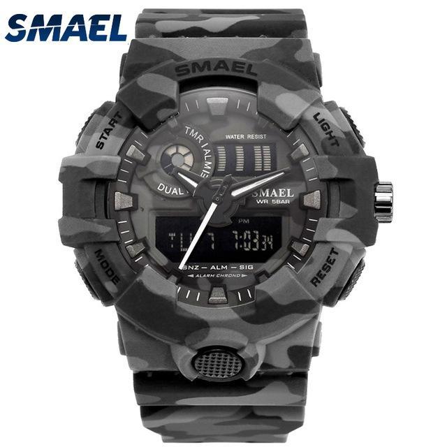 Camouflage Military Watch SMAEL Sport Watches LED Men Sport Quartz Wristwatch