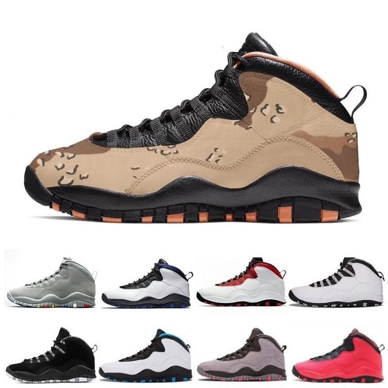 Sapatos New 10 X GS Fusão 10s Mens Basketball baratos Bobcats Grey Red Chicago Cinza frio Iam Voltar pó azul treinadores desportivos Sneakers