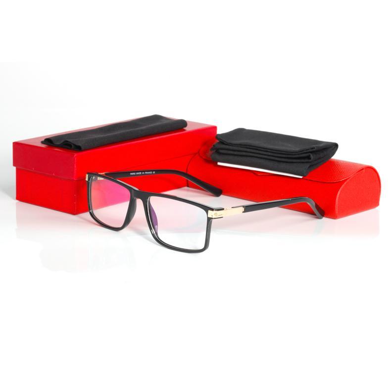 Negocios lentes ópticas marca de los marcos Frame Designer Eyewear de calidad superior para los hombres Moda completo marco de los vidrios vidrios cuadrados 4817721