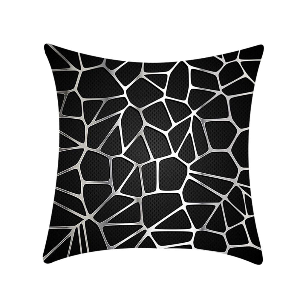 Black And White Geometric Abstract Decorative Polyester Pillowcase Cojines Decorativos Para Sof Cushion Cover Throw Pillows