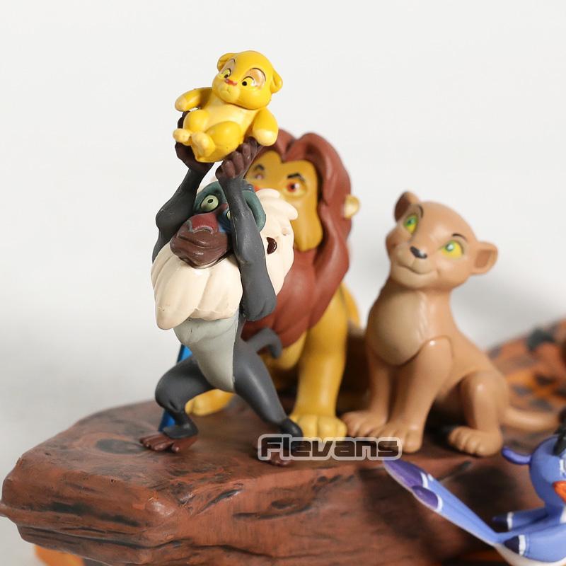 6pcs//set WCF Story 07 The Lion King Simba Mufasa Pumbaa Scar Timon Figures