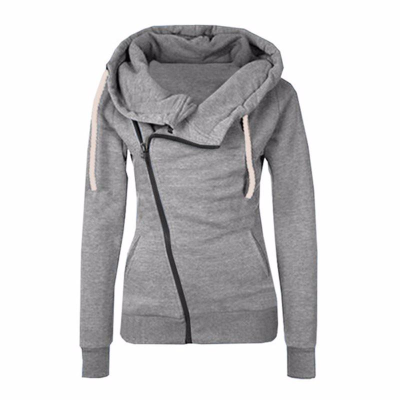 Femme Sweat-shirt à capuche Femme Vêtements pour femmes Sweats à capuche Casual Gris Rose Solide Survêtement Polyester Costume irrégulière Drop Shipping