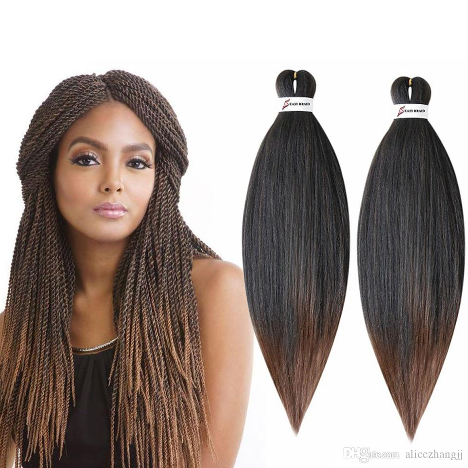 """Perm Yaki Easy Jumbo Braids Ombre Pre-Stretched Braiding Hair Synthetic Crochet Braids Hair Extension 20 """"26"""""""