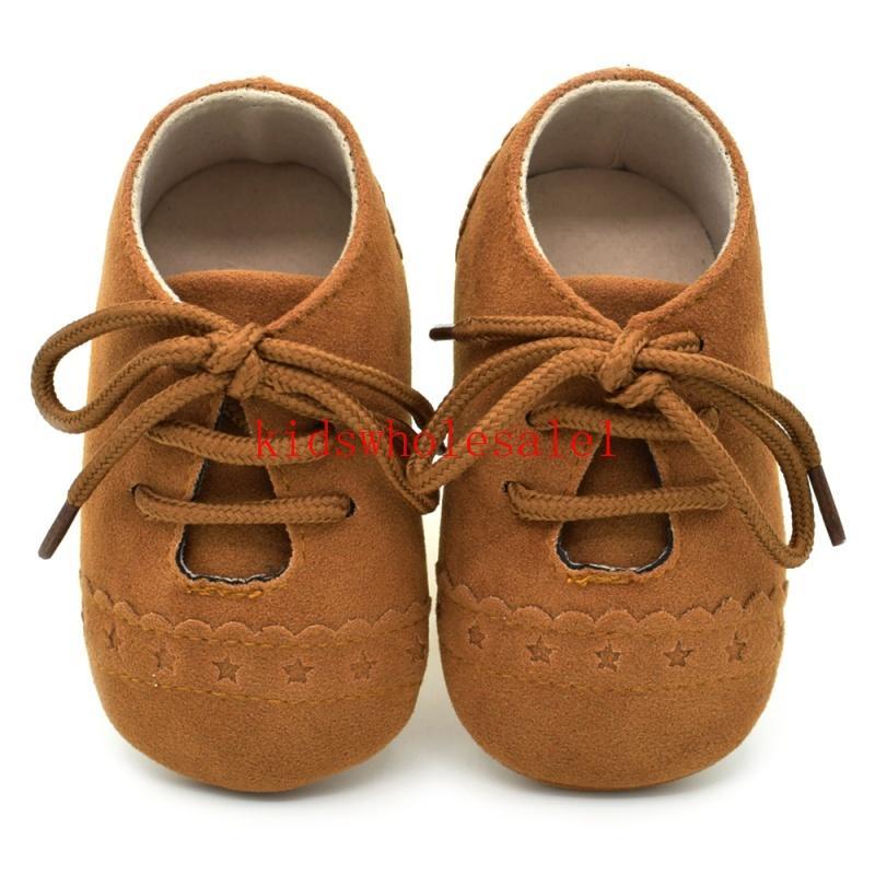 Bebé Vintage PU zapatos de cuero Zapatos de las muchachas muchachas del resorte del bebé de los botines del bebé mocasines Moda primeros caminante 0-18M 8 Colores