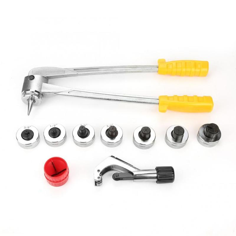 Tool Set Manual Pipe Flaring Expander Tool Hydraulic Copper Heads Tube Swaging Kit Useful hand set