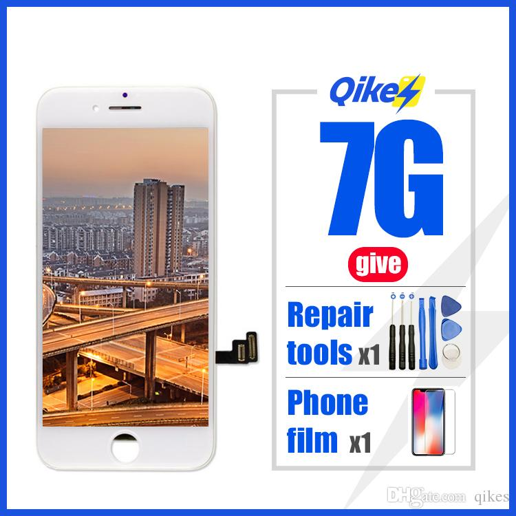 iPhone 7 Ölü Piksel temperli cam Araçları TPU iPhone 7 Dokunmatik Ekran Yedek İçin Perakende vermek Tamir araçları filmi LCD Ekran