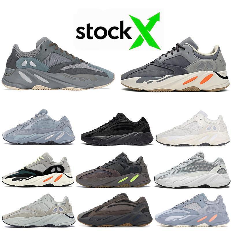 Mıknatıs 700 Kadın Erkek Ayakkabı Dalga Runner Vanta Statik 3M Tuz Analog Geode Leylak Atalet Running 700 Kanye Ayakkabı Koşu Spor ayakkabılar