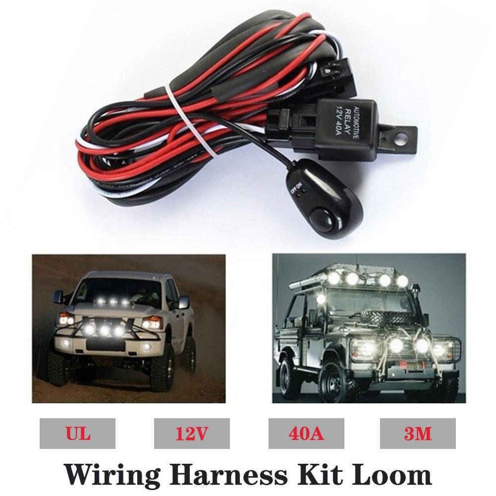 2019 Car LED Light Bar Wire 3M 12v 24v 40A Wiring Harness Relay Loom Jeep Yj Headlight Relay Wiring on jeep yj speedometer cable, jeep yj frame rust, jeep yj door jamb switch, jeep yj turn signal lever, jeep yj dimmer switch, jeep yj fuse block, jeep yj brake light switch,