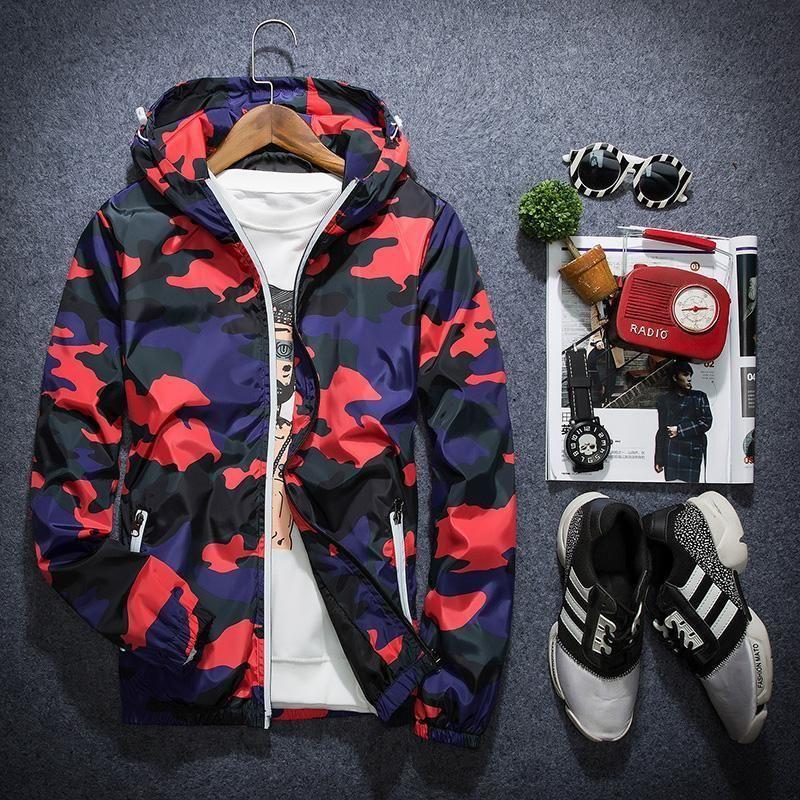 Yeni Kamuflaj Ceket Erkekler Kadınlar Artı Boyutu Camo Kapşonlu Rüzgarlık Ceketler Askeri Tuval Ceket Parka Moda Streetwear Yeni stil
